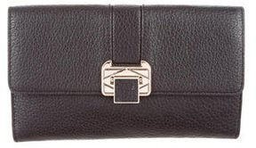 Rebecca Minkoff Pebbled Leather Flap Clutch - BLACK - STYLE