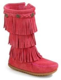 Minnetonka Toddler's & Kid's Three-Layer Fringe Boots