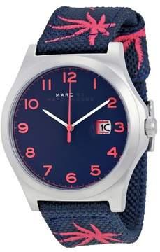 Marc Jacobs Marc By Jimmy Blue Dial Blue Nylon Men's Watch MBM5087