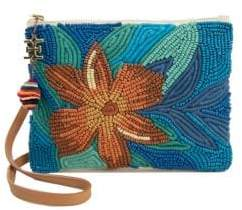 Sam Edelman Anette Embellished Canvas Pouch