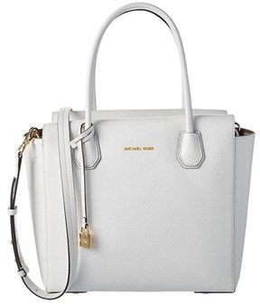 MICHAEL Michael Kors Mercer Large Leather Satchel. - WHITE - STYLE