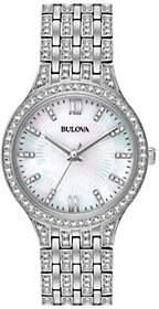Bulova Women's Stainless Crystal Bracelet Watch