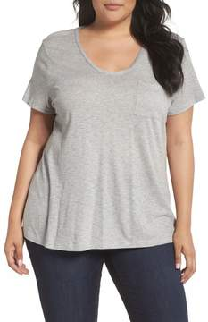 Caslon Rounded V-Neck Tee