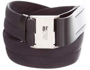 Jil Sander Canvas Leather-Trimmed Belt