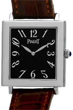 Piaget Altiplano Tank Mйcanique 18K White Gold Strap Watch