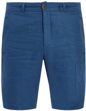 Oliver Spencer Patch-pocket linen shorts
