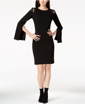 Bar III Laced-Shoulder Bodycon Dress, Created for Macy's