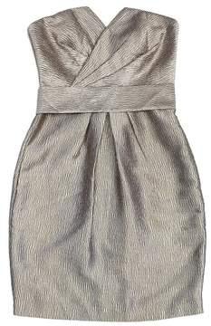 Coast Gold Textured Strapless Dress