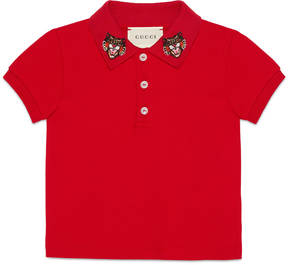 Baby cotton polo with Angry Cat