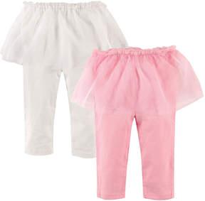 Hudson Baby Light Pink & White Tutu Leggings Set - Infant
