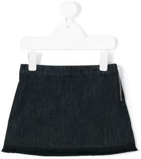Moncler embroidered logo denim skirt