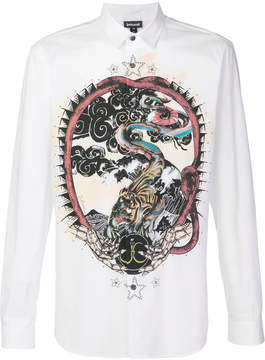 Just Cavalli snake print shirt