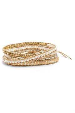 Chan Luu Women's Cultured Pearl & White Opal Wrap Bracelet