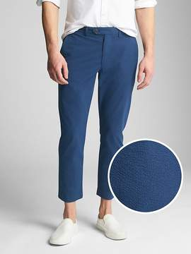 Gap Seersucker Wader Ankle Pants in Slim Fit with GapFlex