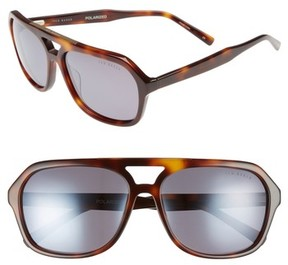 Ted Baker Men's 60Mm Polarized Navigator Sunglasses - Havana Tortoise