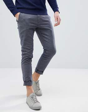 Selected Slim Fit Pants In Chambray Cotton