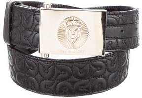Gianfranco Ferre Quilted Buckle Belt