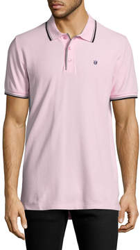 Cult of Individuality Men's Pique Cotton Polo Shirt