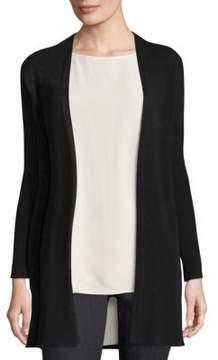 Eileen Fisher Straight Long Wool Cardigan