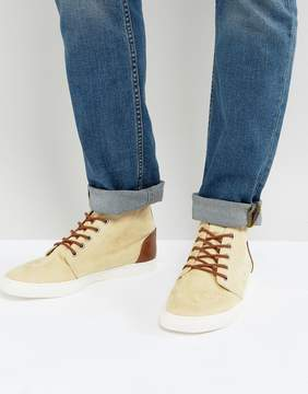 Asos Casual Boots In Stone Faux Suede