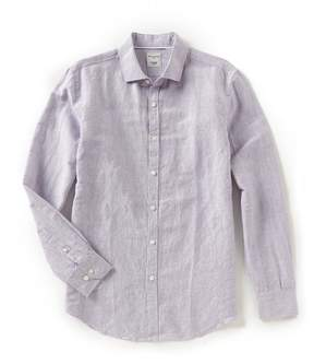 Murano Slim-Fit Stripe Linen Long-Sleeve Woven Shirt
