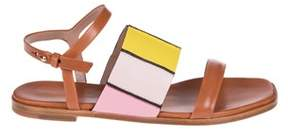 Paul Smith Women's Brown Leather Sandals.