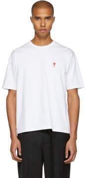 Ami Alexandre Mattiussi SSENSE Exclusive White Boxy Ami de Coeur T-Shirt
