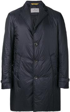 Canali lapel detail padded coat