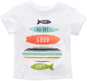 First Impressions Surfboard-Print Cotton T-Shirt, Baby Boys, Created for Macy's