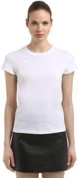 Courreges Logo Printed Cotton Jersey T-Shirt
