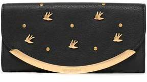 See by Chloe Embellished Textured-Leather Continental Wallet