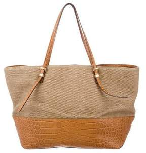 Michael Kors Large Straw Gia Tote - BROWN - STYLE