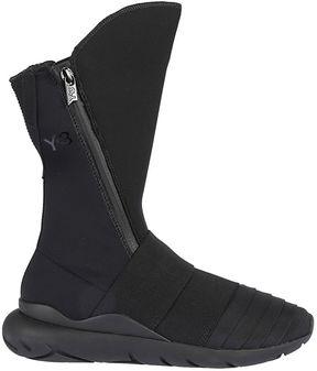 Y-3 Adidas Zip-up Hi-top Sneakers
