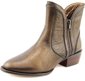 Very Volatile Moffit Women Round Toe Leather Bronze Ankle Boot.