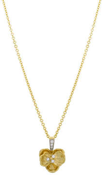 Michael Aram Small Orchid Pendant Necklace with Diamonds in 18K Gold