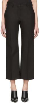 Calvin Klein Collection Black Lagan Crop Flare Trousers