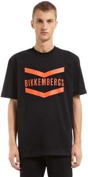 Bikkembergs Oversized Logo Cotton Jersey T-Shirt
