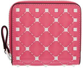 Valentino Pink Garavani Free Spike Wallet