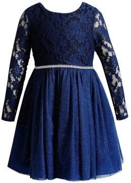 Youngland Girls 4-6X Lace Bodice Knit Dress