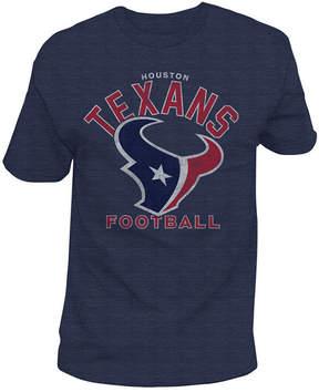 Authentic Nfl Apparel Men's Houston Texans Midfield Retro T-Shirt