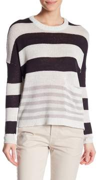 Brochu Walker Zander Linen Blend Stripe Pullover