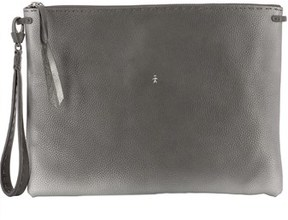 Henry Beguelin Women's Grey Leather Clutch.