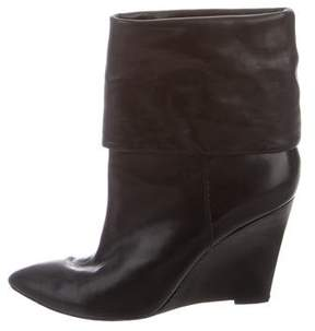 Michael Kors Pointed-Toe Wedge Ankle Boots