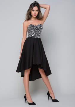 Bebe Pearl & Crystal Dress