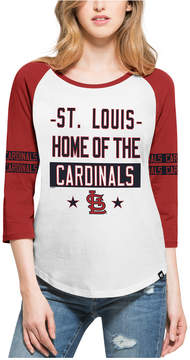 '47 Women's St. Louis Cardinals Triple Crown Raglan T-Shirt