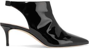 Christopher Kane Patent-leather Slingback Pumps - Black