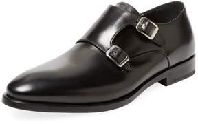Antonio Maurizi Men's Leather Double Monkstraps Shoe