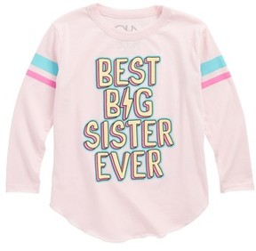 Chaser Toddler Girl's Best Big Sister Graphic Tee