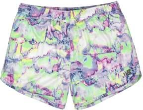 New Balance Girls 7-16 Layered Running Shorts