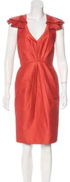 Andrew Gn Ruffle-Accented Midi Dress